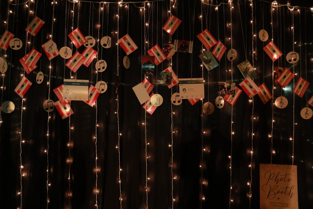 Photo of Vintage quirky decor idea with hanging cassettes