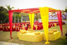 Photo of red and yellow theme