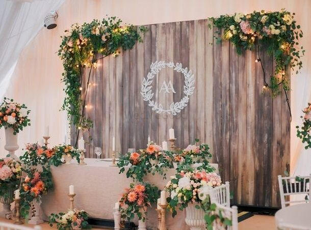 Photo of Rustic fairytale photobooth with wedding logo