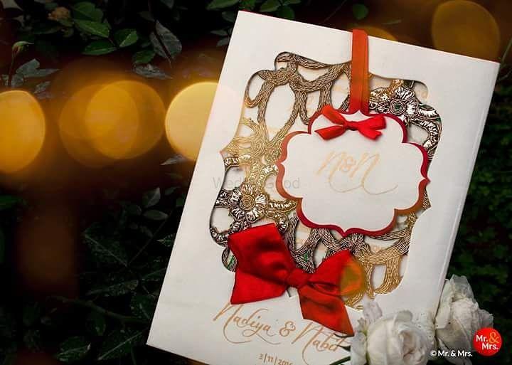 Photo of Beautiful wedding invitation cards