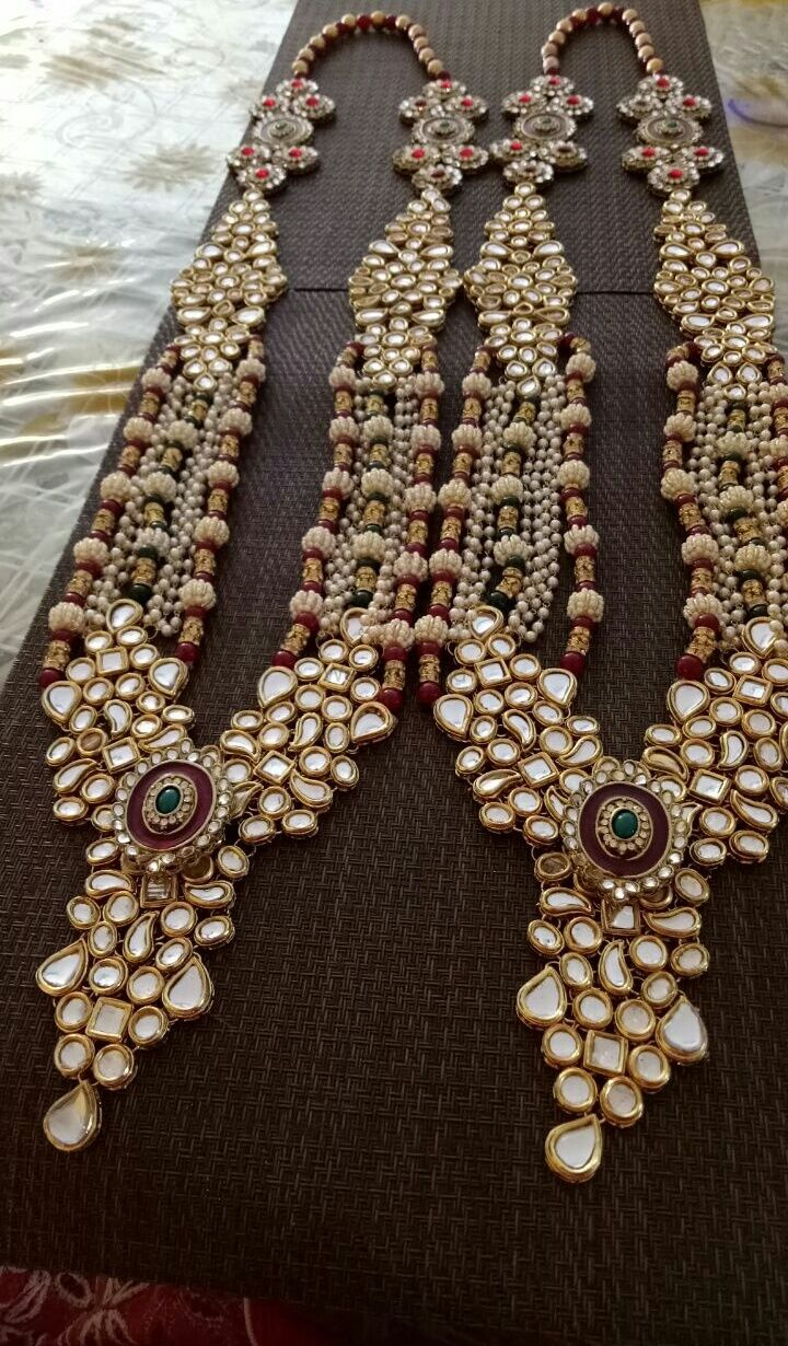 Photo of Pretty kundan and pearl raani haar for wedding