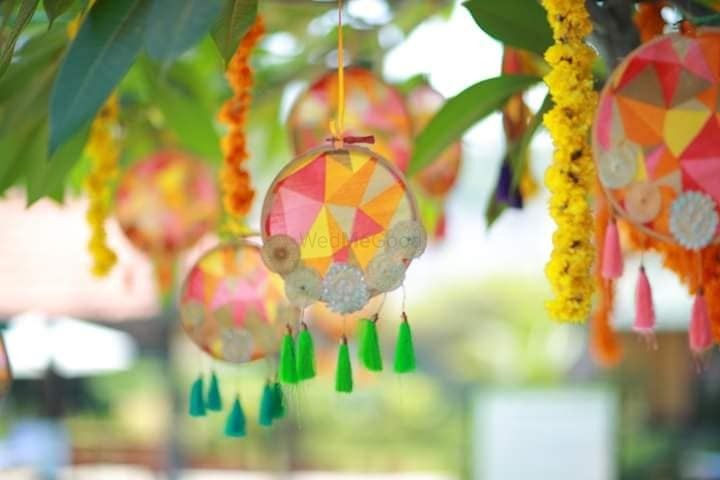 Photo of Hanging dreamcatchers with tassels for tree decor