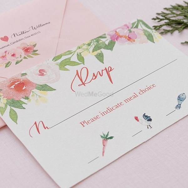 Photo of Rsvp card for wedding
