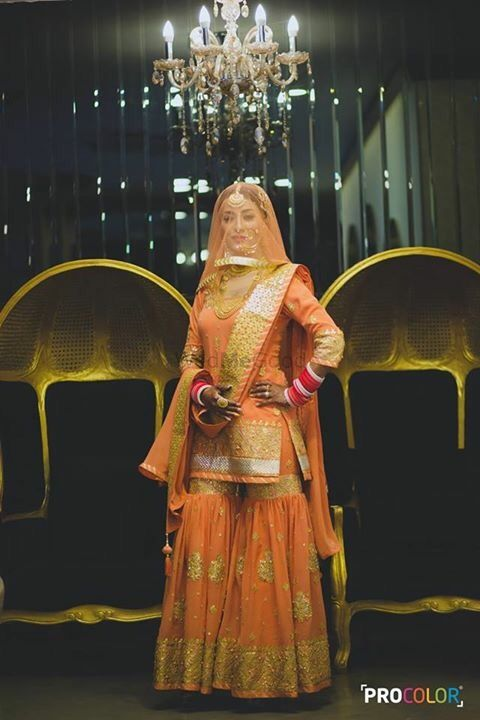 Photo of Coral and gold sharara