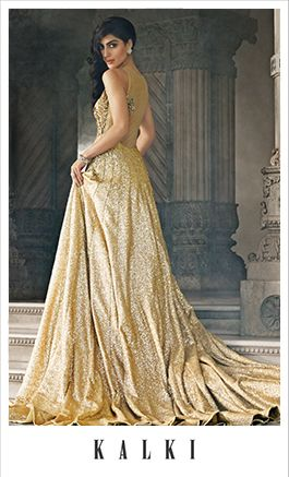 Photo of gold shimmery gown