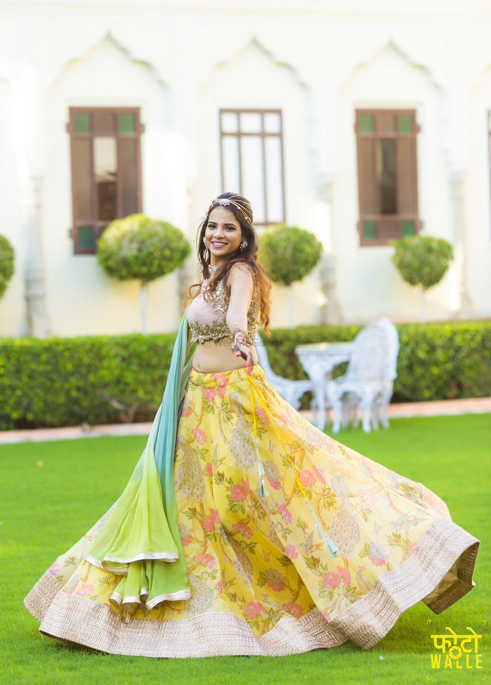 Photo of Pastel mehendi lehenga
