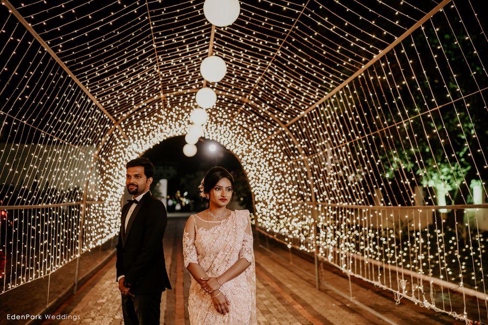 Yellow Wedding Decor Photo couple portrait