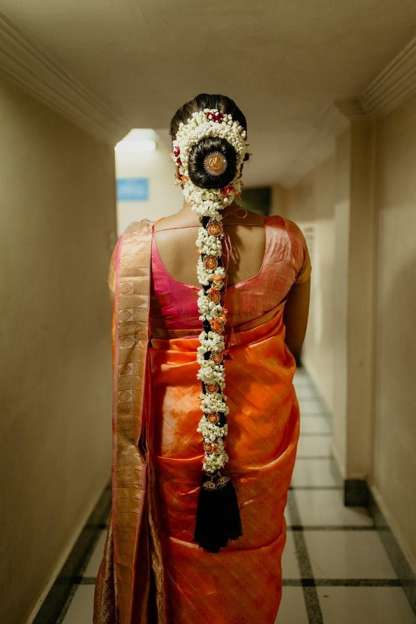 Photo of Floral jada hairstyle for South Indian brides.