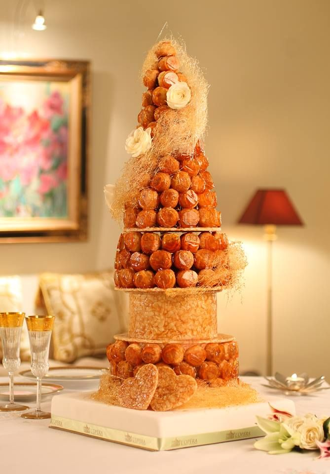 Photo of croquembouch wedding cake