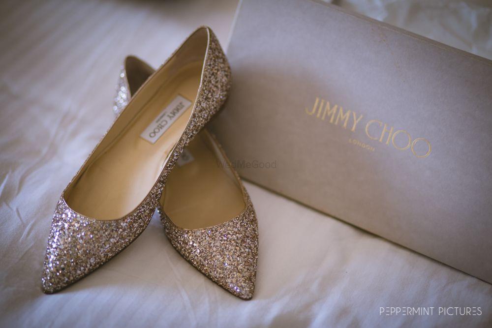 Photo of Gold bridal jimmy choo heels
