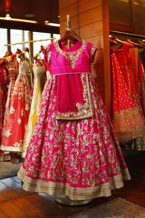 Photo of silk bridal lehenga