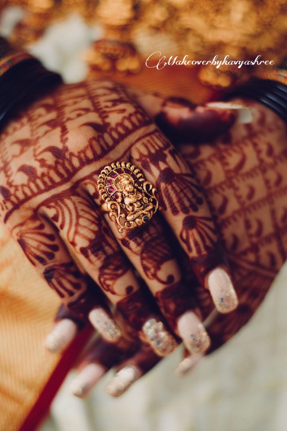 Photo of Temple jewellery cocktail ring for bride