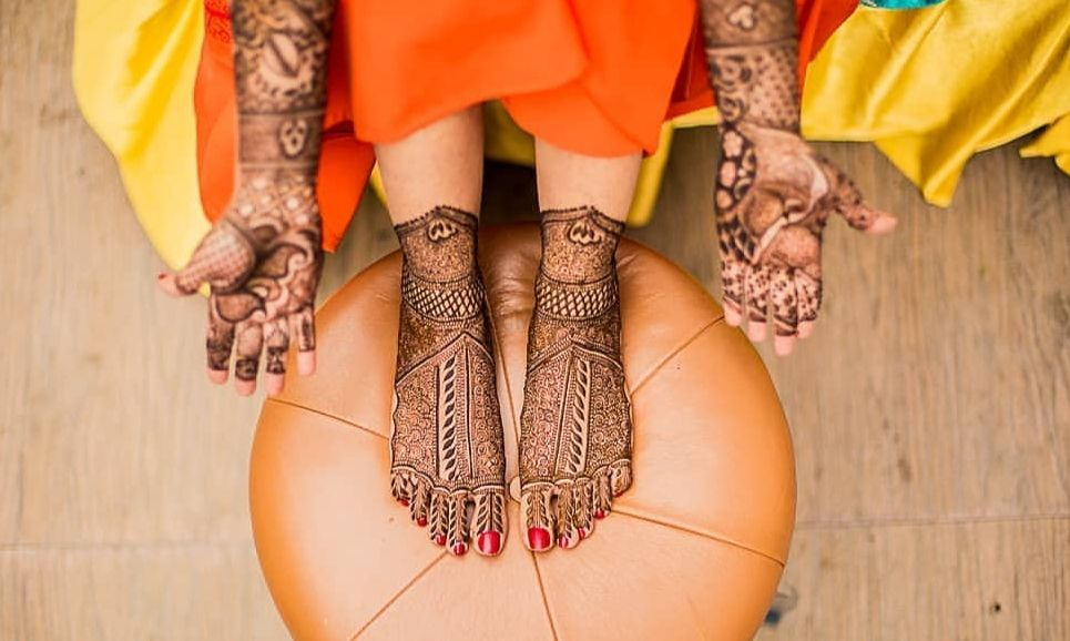 Photo of bridal mehndi design