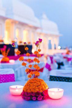 Wedding Decor Photo Genda phool decor