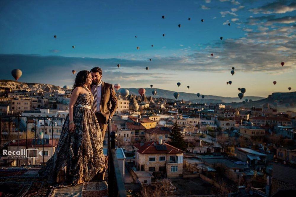 Photo of romantic pre wedding shoot idea in turkey