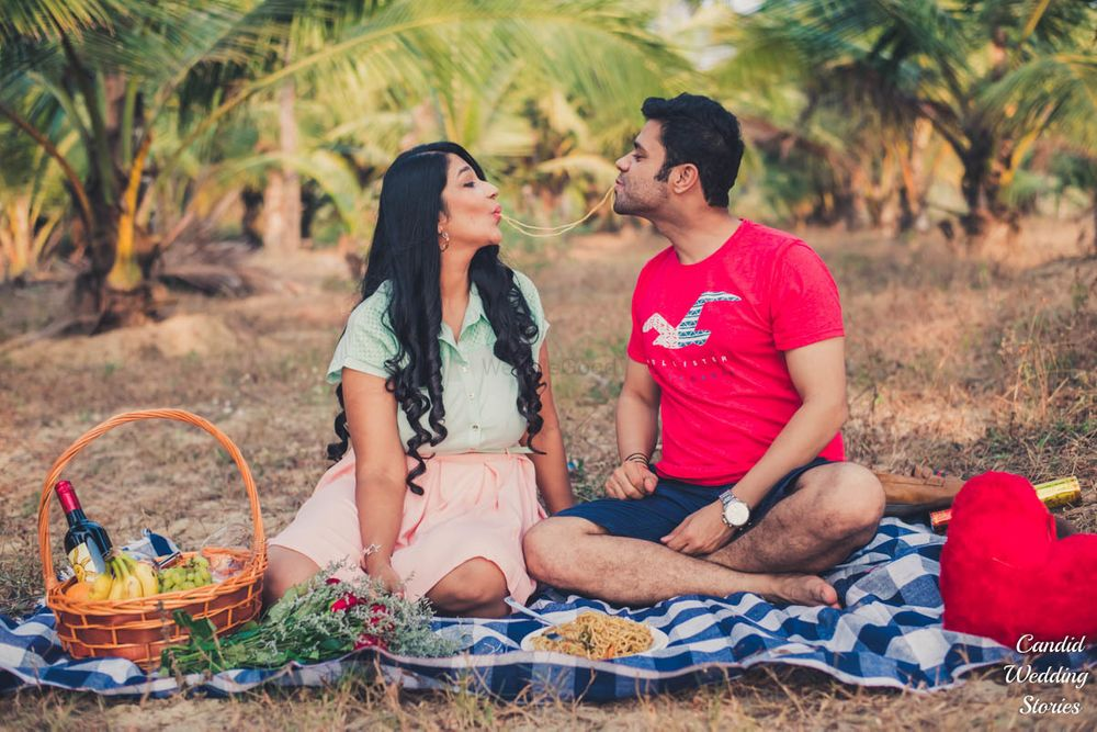 Photo of Cute picnic theme pre wedding shoot idea