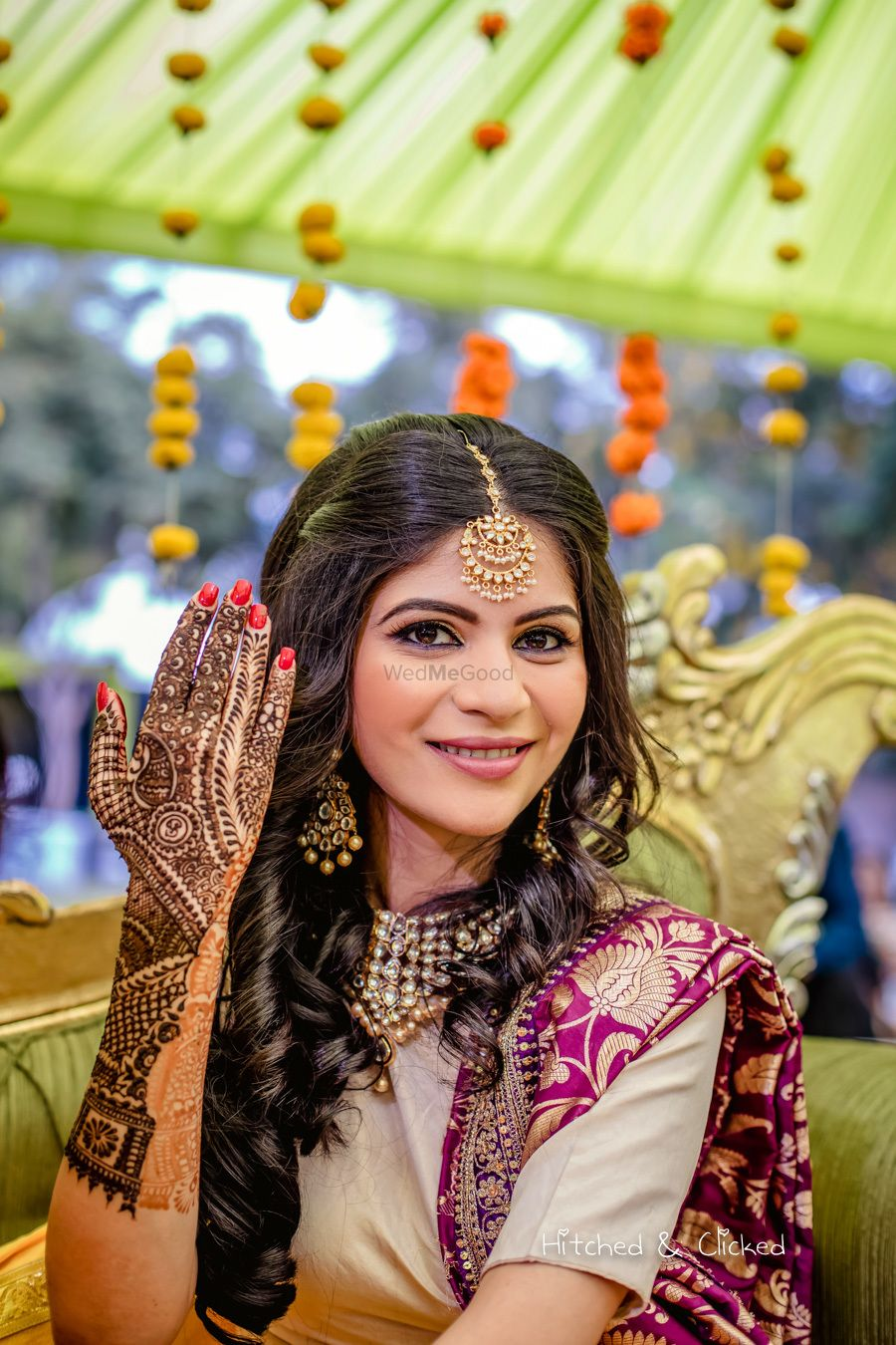 Photo of A to-be-bride getting her mehendi done