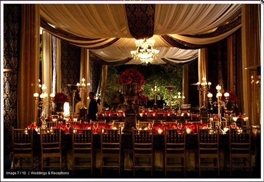 Photo of white drapes