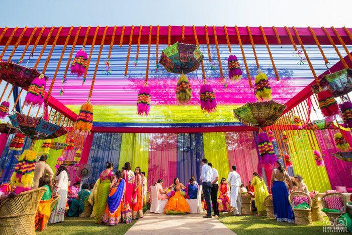 Photo of Colorful mehendi decor