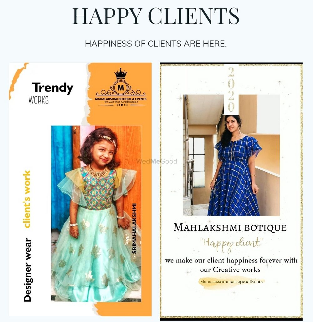 Photo From Happy clients - By Sri Mahalakshmi Boutique and Events