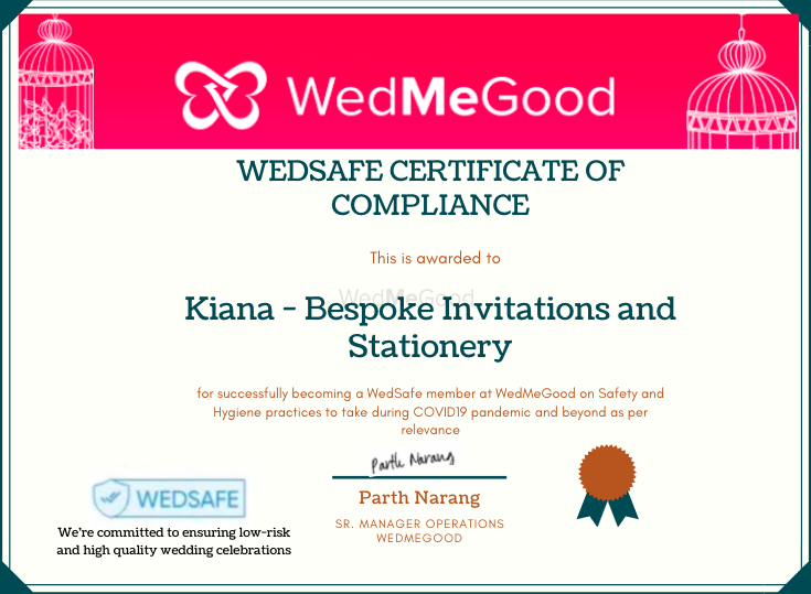 Photo From WedSafe - By Kiana - Bespoke Invitations and Stationery
