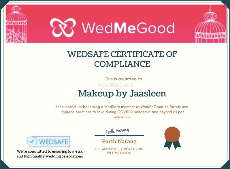 Photo From WedSafe - By Makeup by Jaasleen