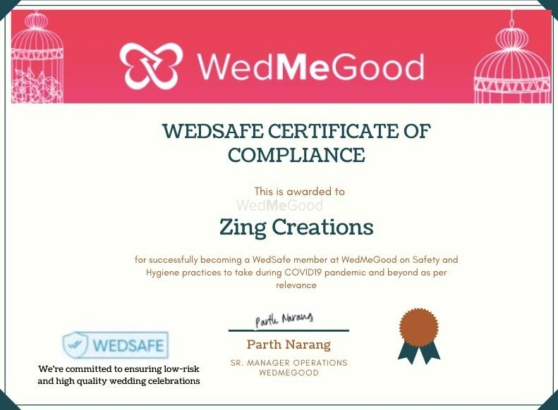 Photo From WedSafe - By Zing Creations