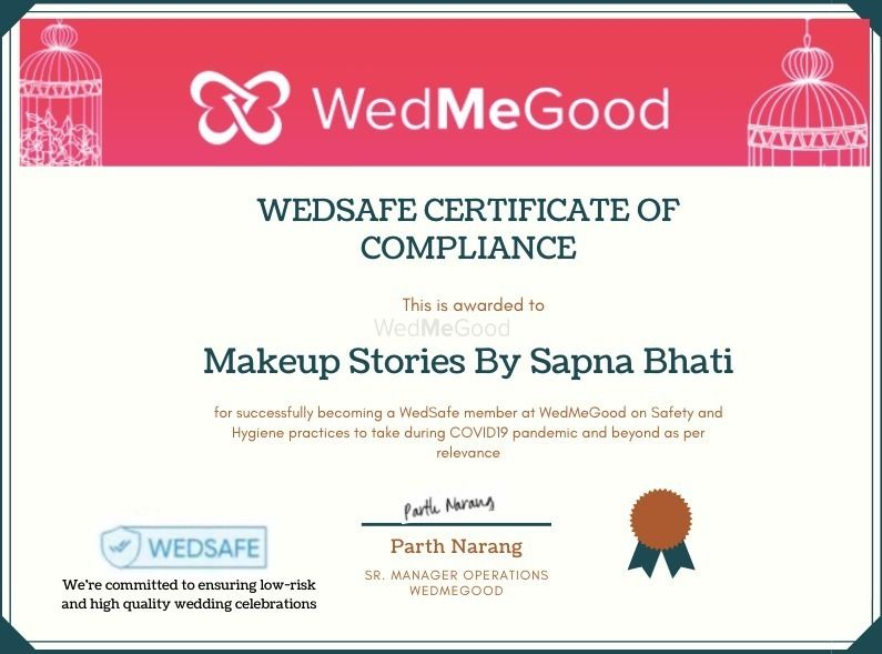 Photo From WedSafe - By Makeup Stories By Sapna Bhati