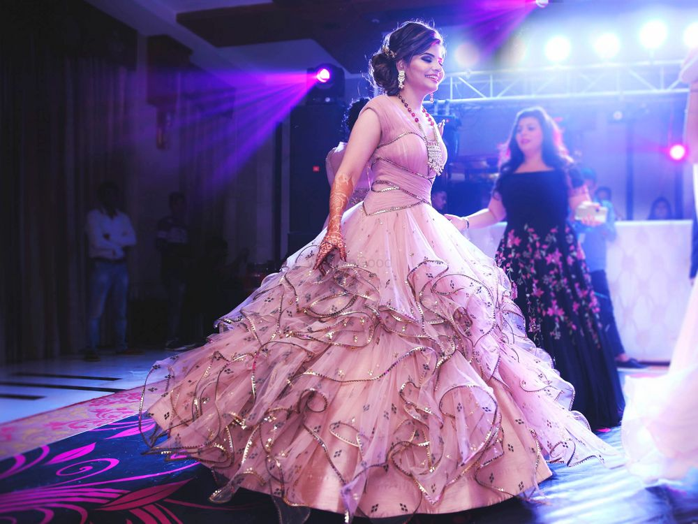Photo of Blush pink net fairytale gown for sangeet