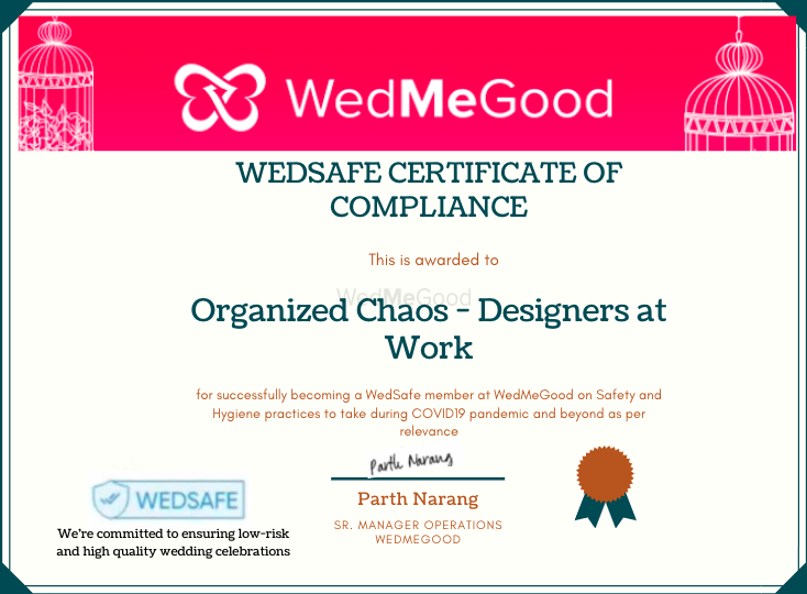 Photo From WedSafe - By Organized Chaos - Designers at Work