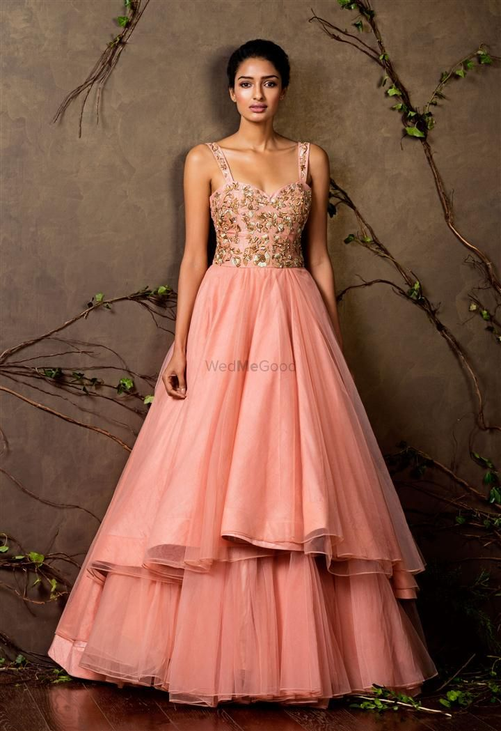 Photo of sleeveless ball gown
