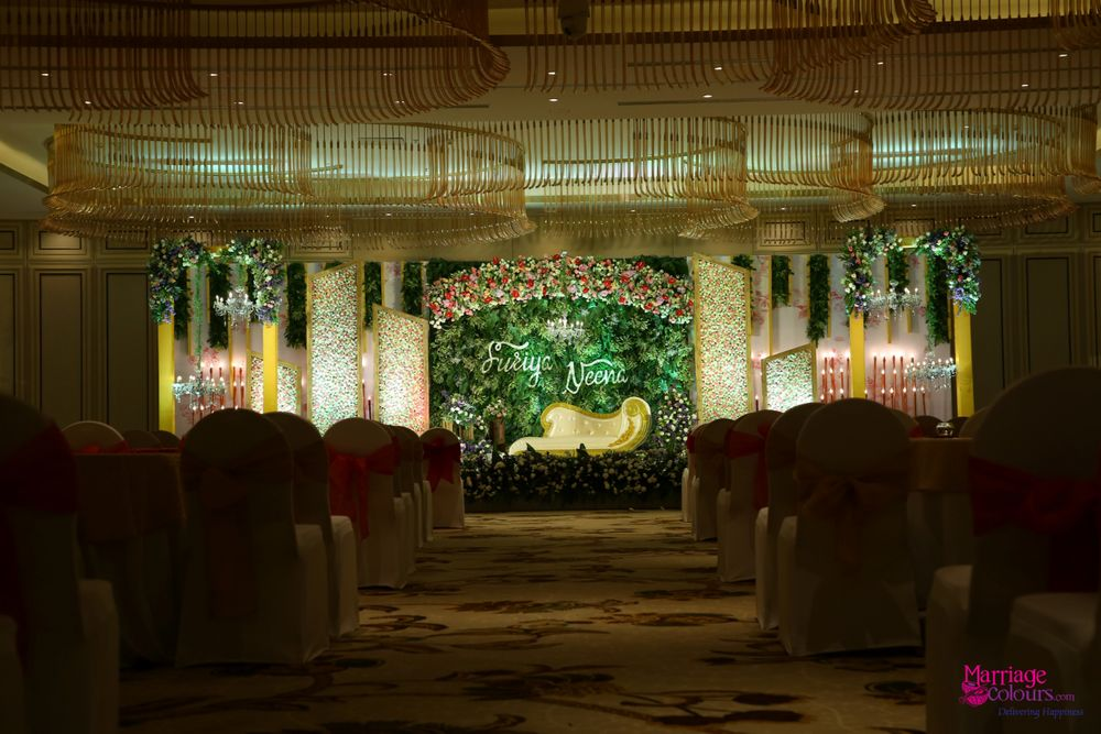Photo From First time in Taj Tirupathi, mixing ferns n florals with the 3rd dimension decor, a perfect setup for the engagement - By Marriage Colours