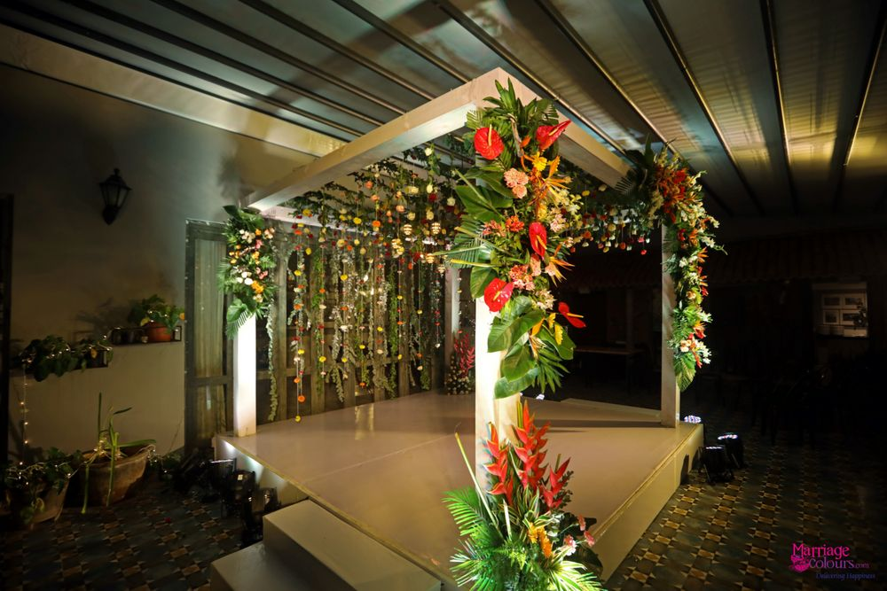Photo From Contemporary mix of tropical forest greens and florals - By Marriage Colours