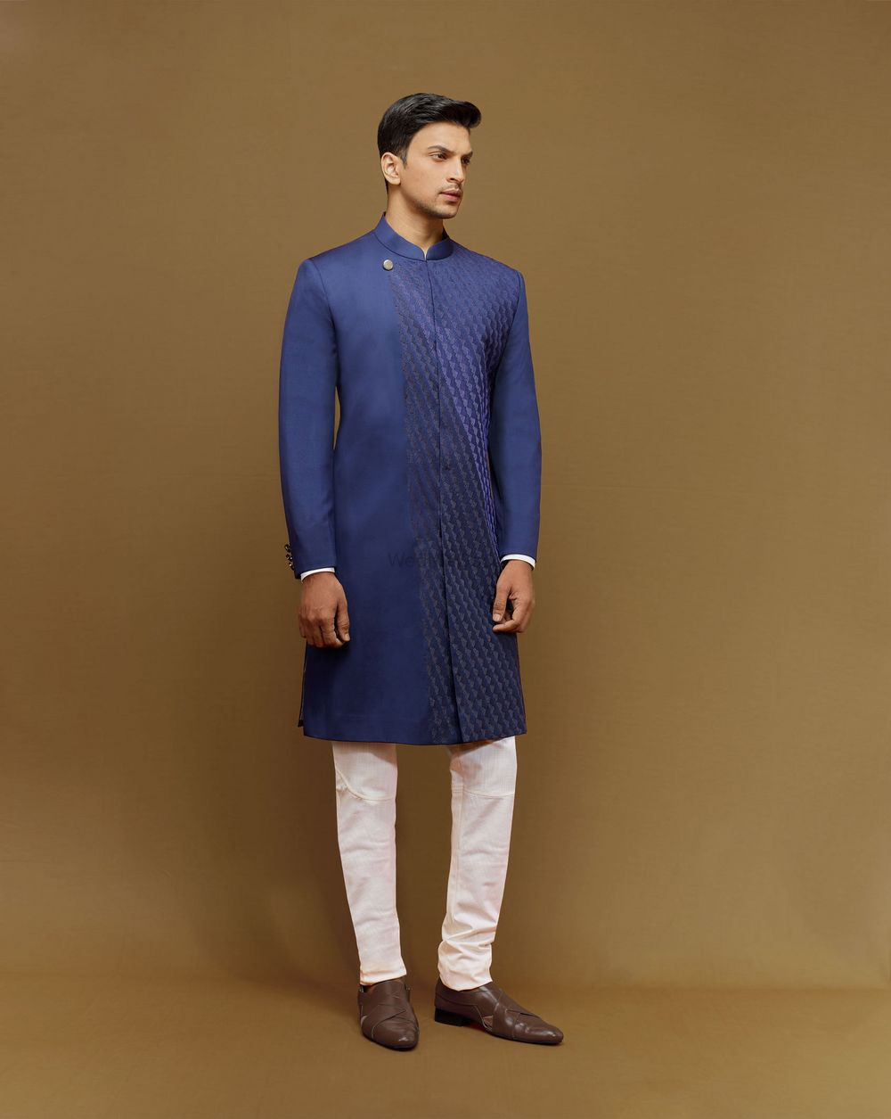 Photo of midnight blue kurta
