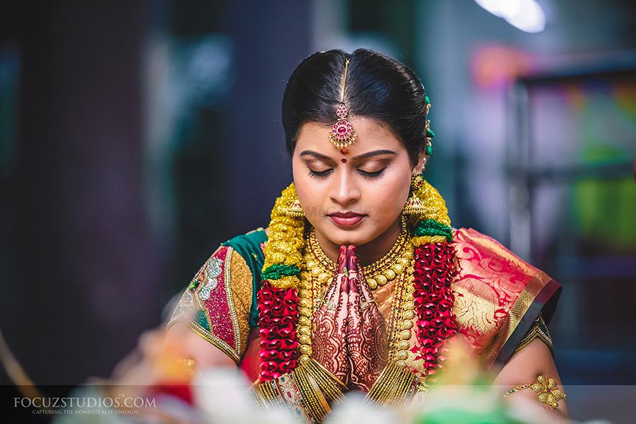 Photo of south indian bridal gold jewellery