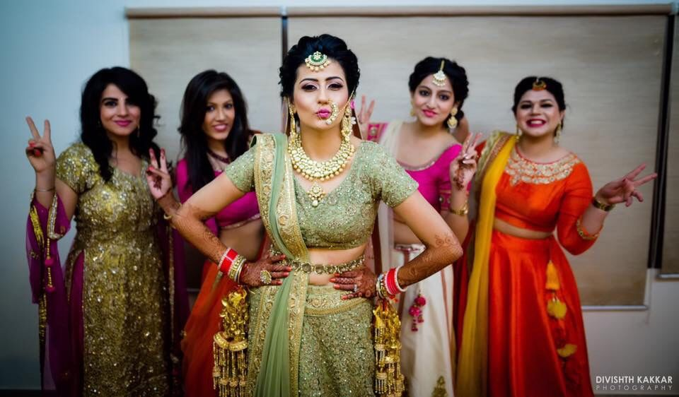 Photo of Cool bride with bridesmaids