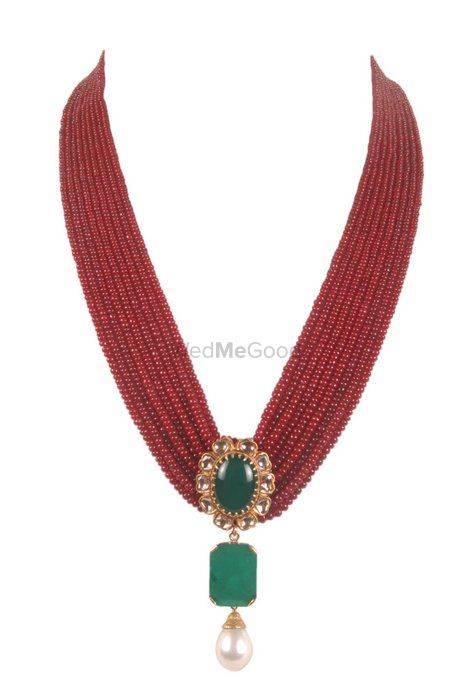 Photo of elegant bridal necklace with rubies