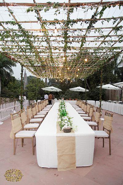 Photo of white theme table decor