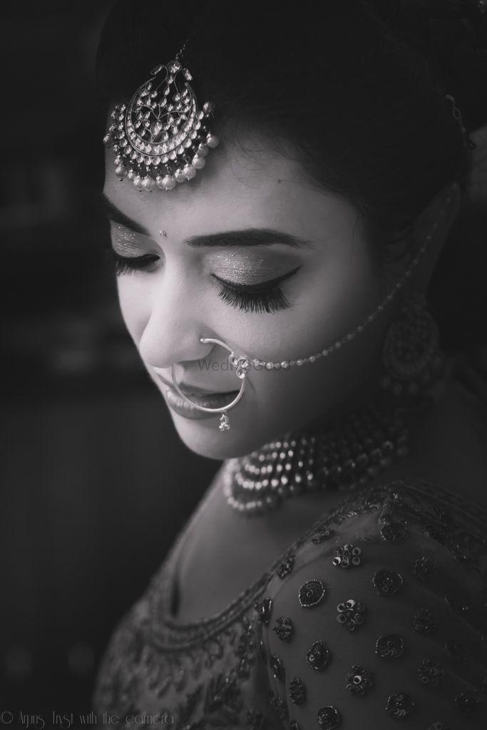 Photo of black and white bride shot