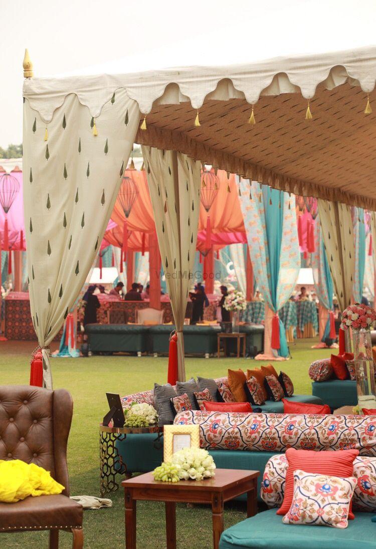 Photo of Summer wedding decor seating ideas with orange and white decor