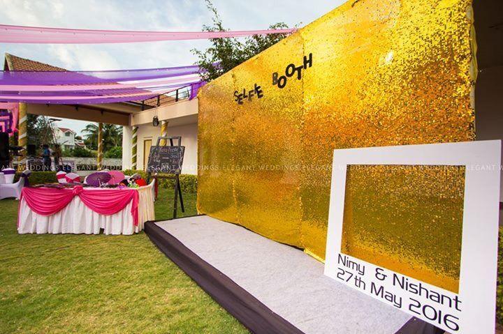 Photo of Glitter selfie photobooth