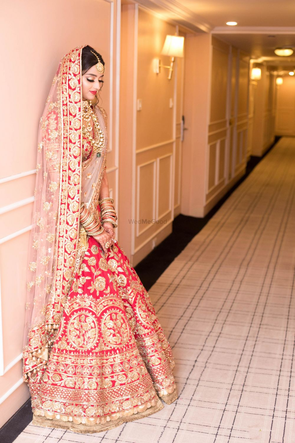 Red Bridal Lehenga Photo Manish Malhotra