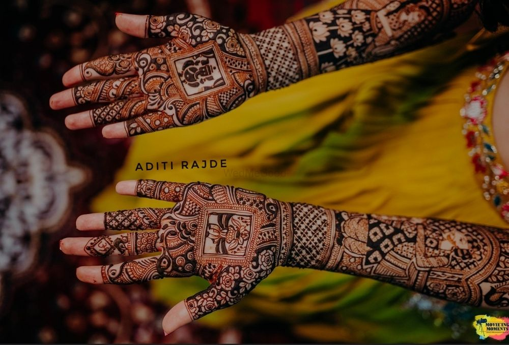 Photo of Traditional mehndi design with intricate details