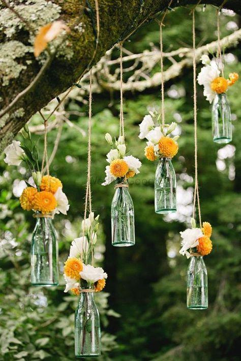 Photo of Hanging glass bottles