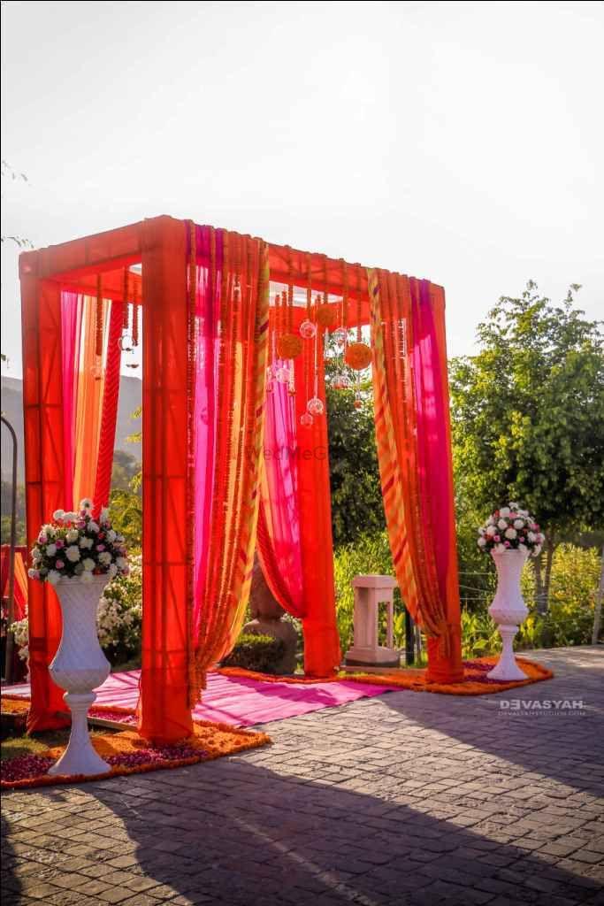 Orange Wedding Decor Photo drapes