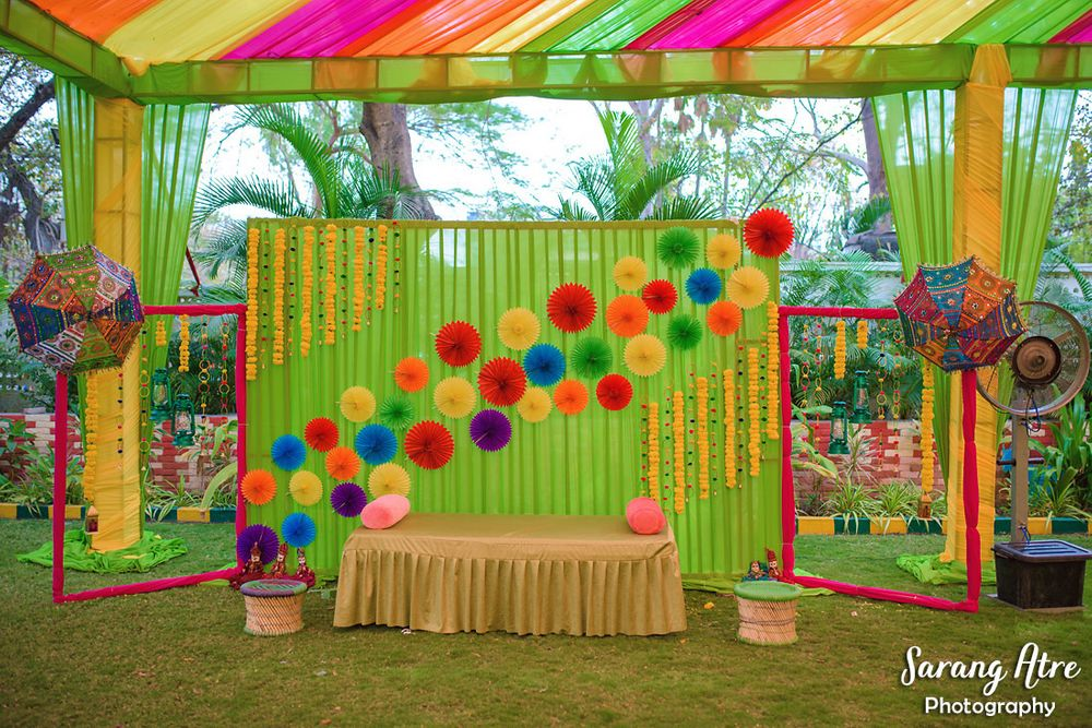 Photo of Paper props for mehendi decor