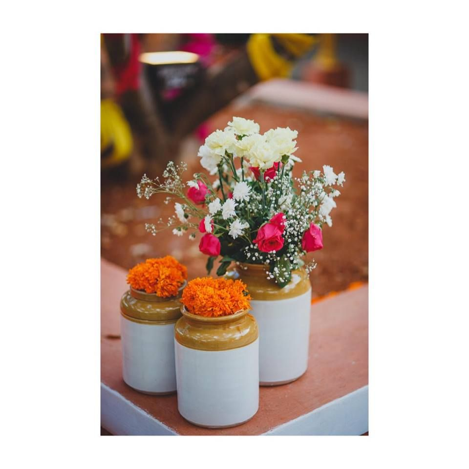 Photo of Pickle jars as vases with flowers