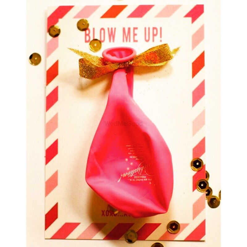 Photo of Blow up invitation card