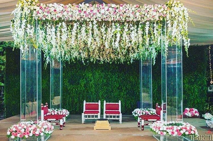Photo of Outdoor floral mandap