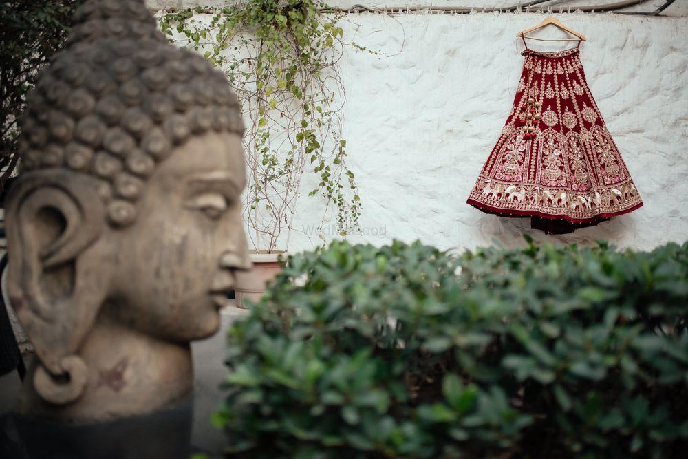 Photo of Hanging lehenga shot